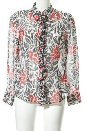 Rena Lange Zijden blouse bloemen patroon elegant