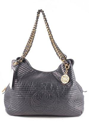 Rena Lange Shopper schwarz-goldfarben Elegant