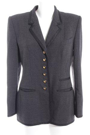 Rena Lange Blazer de esmoquin negro-gris estilo «business»