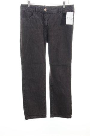 Rena Lange Jeans met rechte pijpen grijs-bruin casual uitstraling
