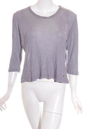Rena Lange Strickshirt weiß-dunkelblau Streifenmuster Casual-Look