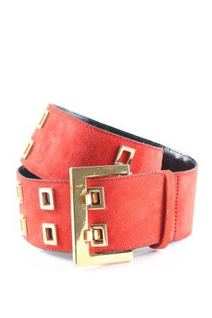 Rena Lange Taillengürtel rot-goldfarben Casual-Look