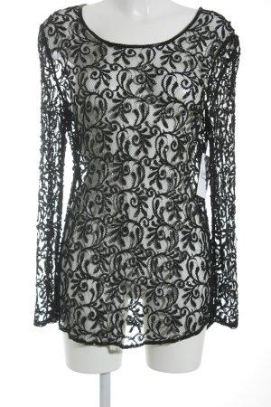 Rena Lange Transparenz-Bluse schwarz Elegant