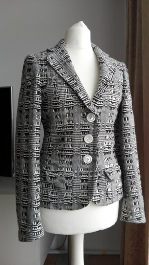 Rena Lange Tweed blazer zwart-wolwit