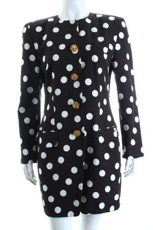 Rena Lange Übergangsmantel schwarz-weiß Punktemuster extravaganter Stil