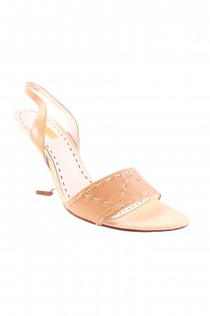 Rena Lange Wedge Sandals oatmeal-beige classic style