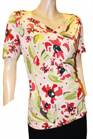 Rena Lange Wraparound Shirt multicolored silk