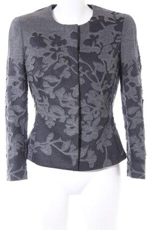 Rena Lange Wollen blazer antraciet-grijs bloemen patroon casual uitstraling
