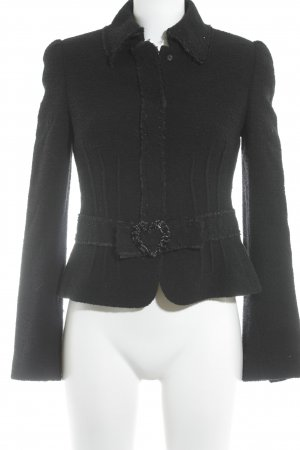 Rena Lange Wollen blazer zwart romantische stijl