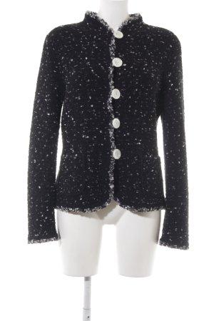 Rena Lange Woll-Blazer schwarz-weiß Farbtupfermuster Elegant