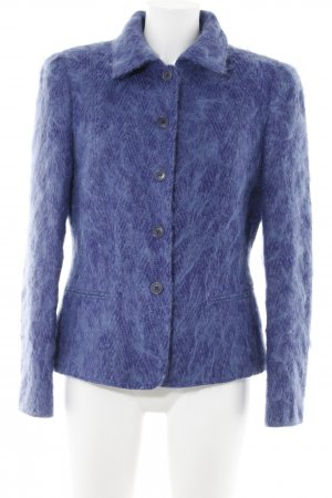 Rena Lange Wool Blazer steel blue extravagant style