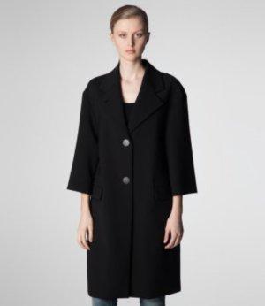 RENA LANGE Wollmantel / klassischer Mantel - schwarz NEU (36)