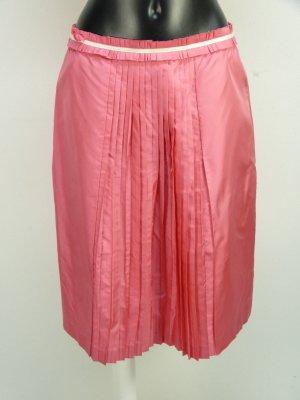 Rena Lange wunderschöner Rock aus Seide mit Plissee Falten vorne - Pink Gr. 38