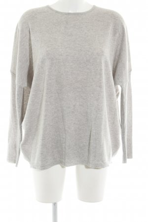 Rena Marx Oversized Sweater light grey flecked casual look