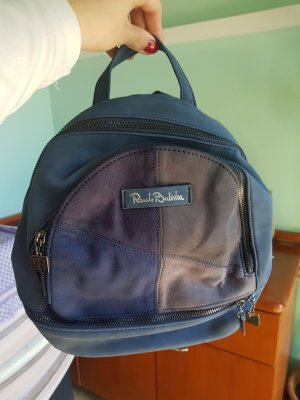 School Backpack steel blue