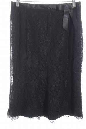 Renato Nucci Lace Skirt black flower pattern casual look