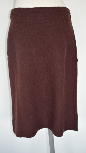 Derhy Wool Skirt brown wool