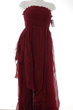 René Lezard Abendkleid dunkelrot Elegant