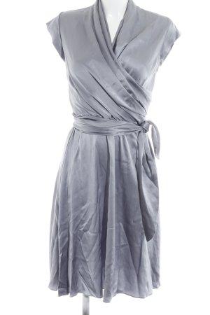 René Lezard Abendkleid grauviolett Elegant