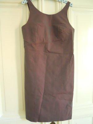 Rene Lezard Abendkleid in changierendem Aubergine Gr. 38