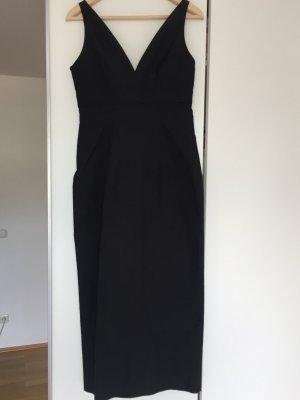 René Lezard Abendkleid Seide schwarz Gr. 34