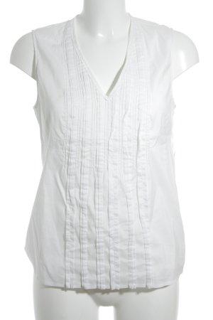 René Lezard ärmellose Bluse weiß Elegant