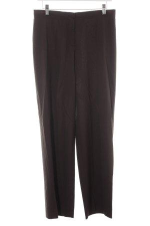 René Lezard Pantalone da abito marrone scuro gessato stile professionale