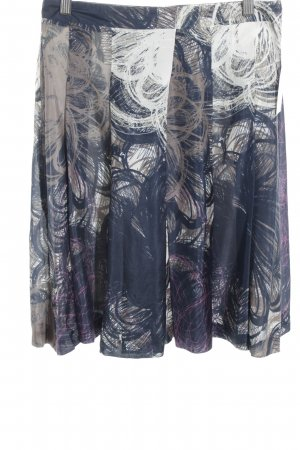 René Lezard Asymmetrische rok abstract patroon casual uitstraling
