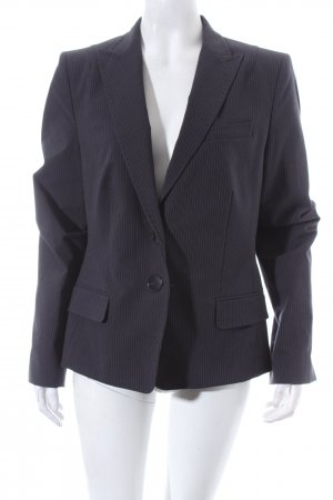 René Lezard Blazer anthrazit-weiß Nadelstreifen Business-Look