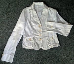 René Lezard Blazer en jean blanc-blanc cassé coton