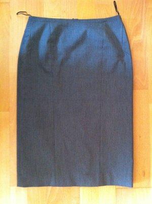 René Lezard Bleistiftrock Pencil Skirt, grau, Gr. 32, wie neu