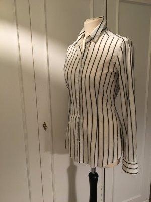 René Lezard Blusa de manga larga blanco