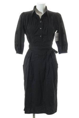 René Lezard Blusenkleid schwarz klassischer Stil
