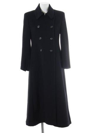 René Lezard Abrigo largo negro estilo sencillo