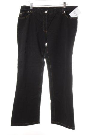 René Lezard Boot Cut Jeans schwarz-dunkelgelb Casual-Look