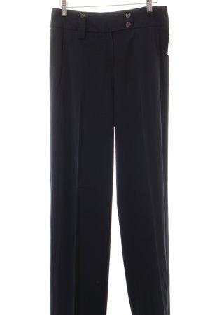 René Lezard Pleated Trousers dark blue navy look