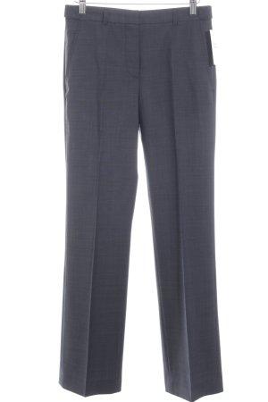 René Lezard Pantalone a pieghe grigio scuro puntinato stile professionale