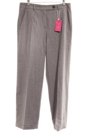 René Lezard Pantalon à pinces gris moucheté style d'affaires