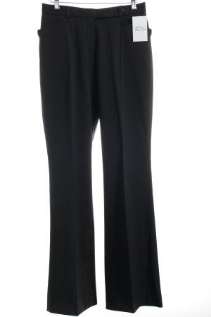 René Lezard Pleated Trousers black classic style