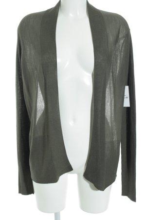 René Lezard Cardigan khaki-dunkelgrün Lochstrickmuster klassischer Stil