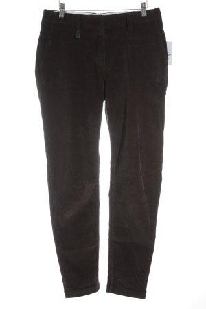René Lezard Pantalone di velluto a coste marrone scuro stile casual
