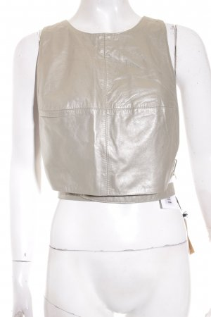 René Lezard Cropped Top silberfarben-goldfarben Metallic-Optik