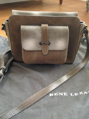 René Lezard Crossbody Tasche Taupe/Silber