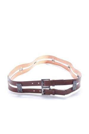 René Lezard double belt brown