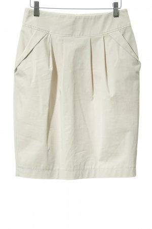 René Lezard Plaid Skirt cream business style