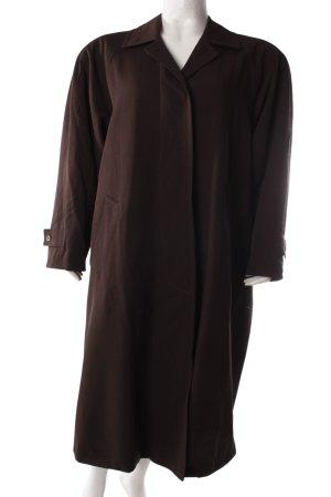 René Lezard Geklede jas zwart bruin-bruin