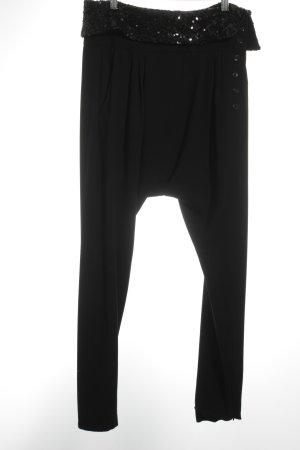 René Lezard Harem Pants black extravagant style