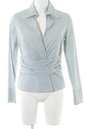 René Lezard Hemd-Bluse graugrün Nadelstreifen Business-Look
