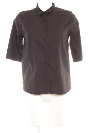 René Lezard Hemd-Bluse schwarz Elegant