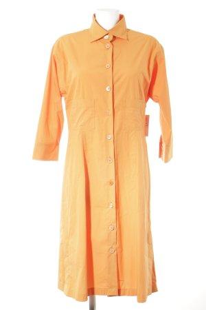 René Lezard Hemdblusenkleid orange Casual-Look